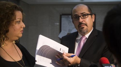 Lcdo. Osvaldo Burgos luego de la vista del caso sobre acceso a la información relacionado con la identidad de los bonistas de la deuda de Puerto Rico.