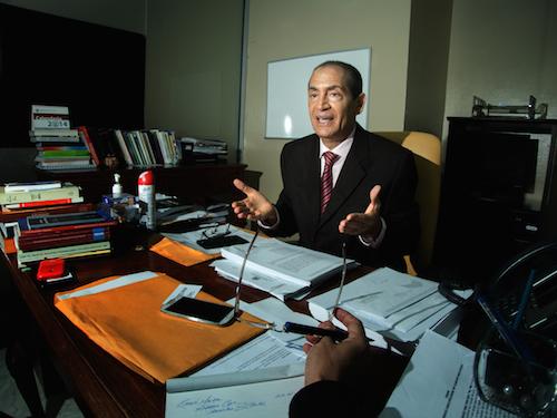 In 2004 Ramón Madera Arias was then General Prosecutor for Environmental Defense in Montecristi, Dominican Republic.