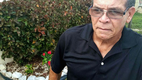 íctor Rodríguez Aguirre, resident of Santa Ana secotr in barrio Jobos in Guayama, Puerto Rico